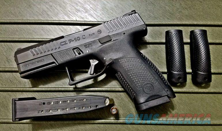Used CZ P-10 C 9mm w/ 2 Mags and Back Straps  Guns > Pistols > CZ Pistols
