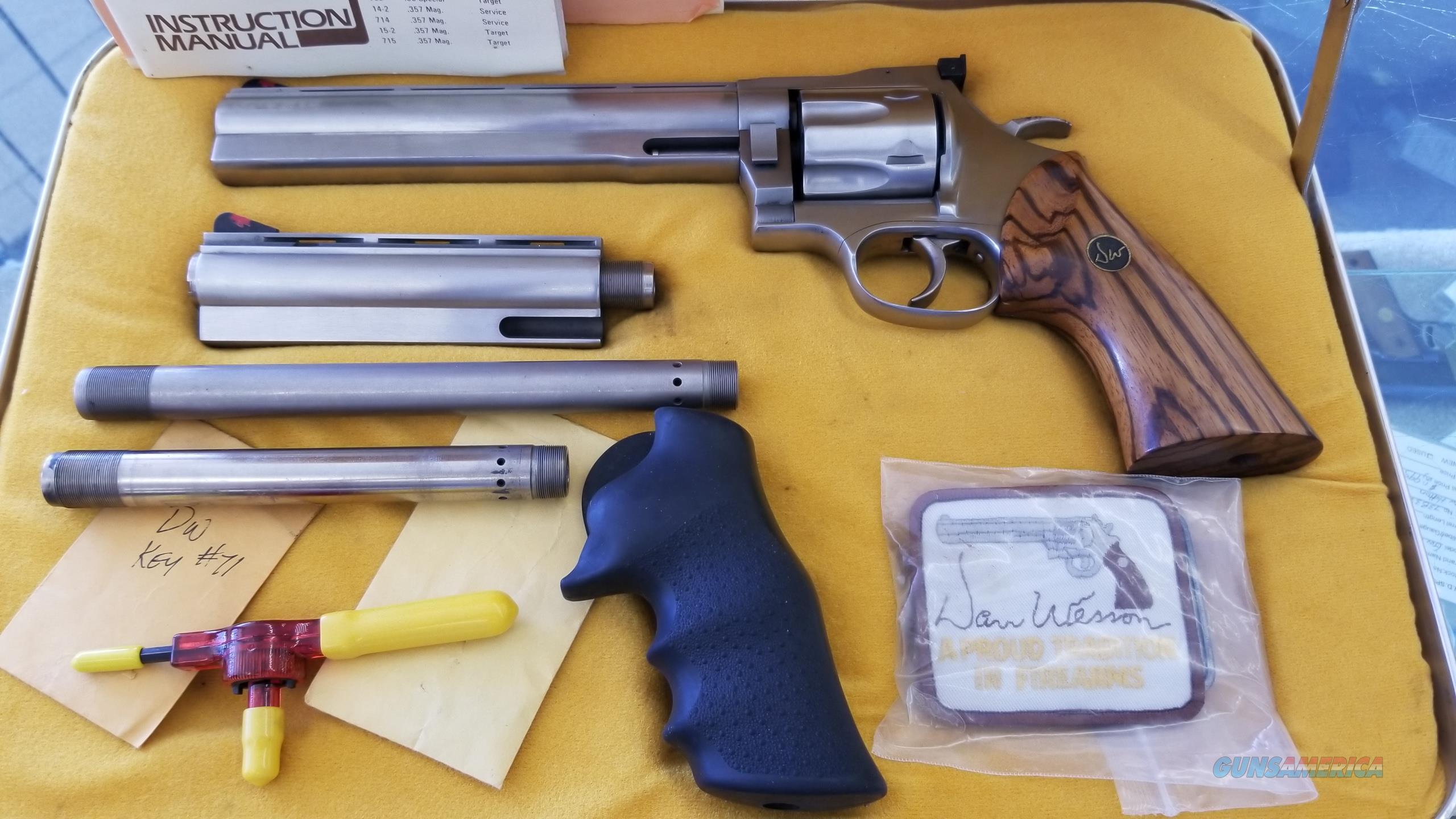 "Pre Owned Dan Wesson Model 744 Pistol Pack w/ Extra Barrels (6"" and 8"") w/ Case  Guns > Pistols > Dan Wesson Pistols/Revolvers > Revolvers"