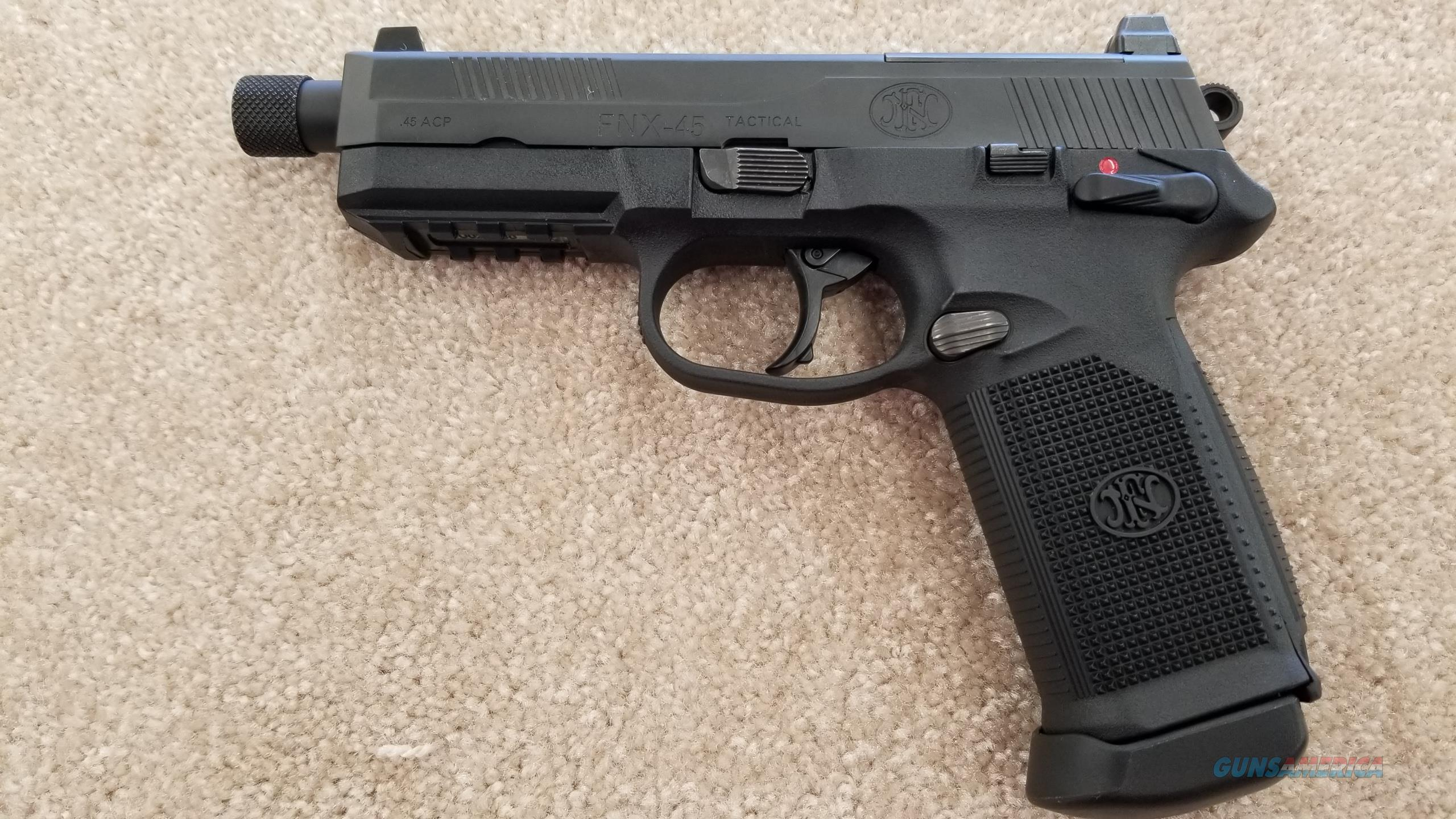 Pre Owned FNH FNX 45ACP w/ (3) 15 Round Mags Suppressor Ready  Guns > Pistols > FNH - Fabrique Nationale (FN) Pistols > FNX