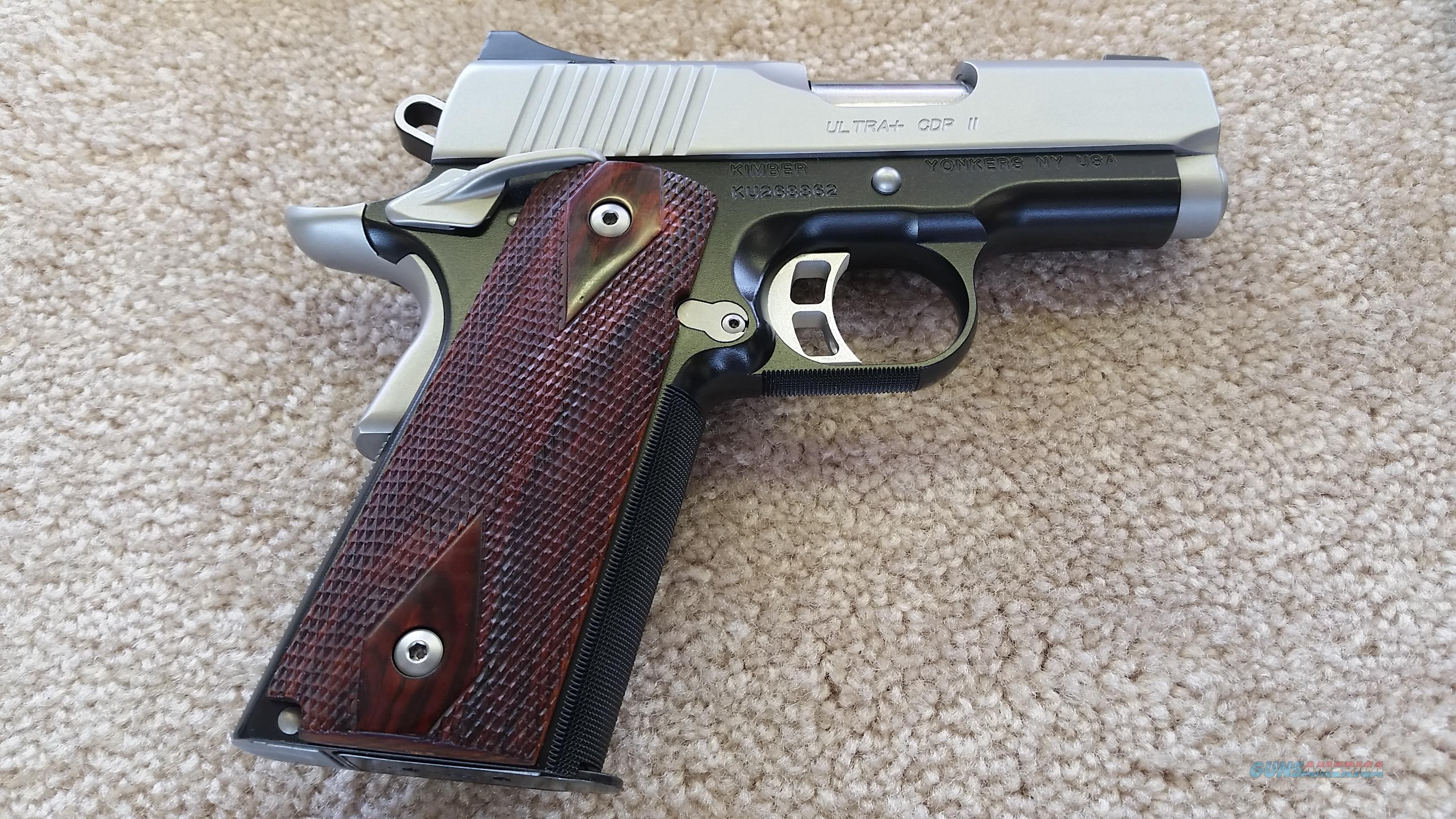 Kimber Ultra + CDP II .45 ACP w/ 7 round mag (Rosewood Grips)  Guns > Pistols > Kimber of America Pistols > 1911