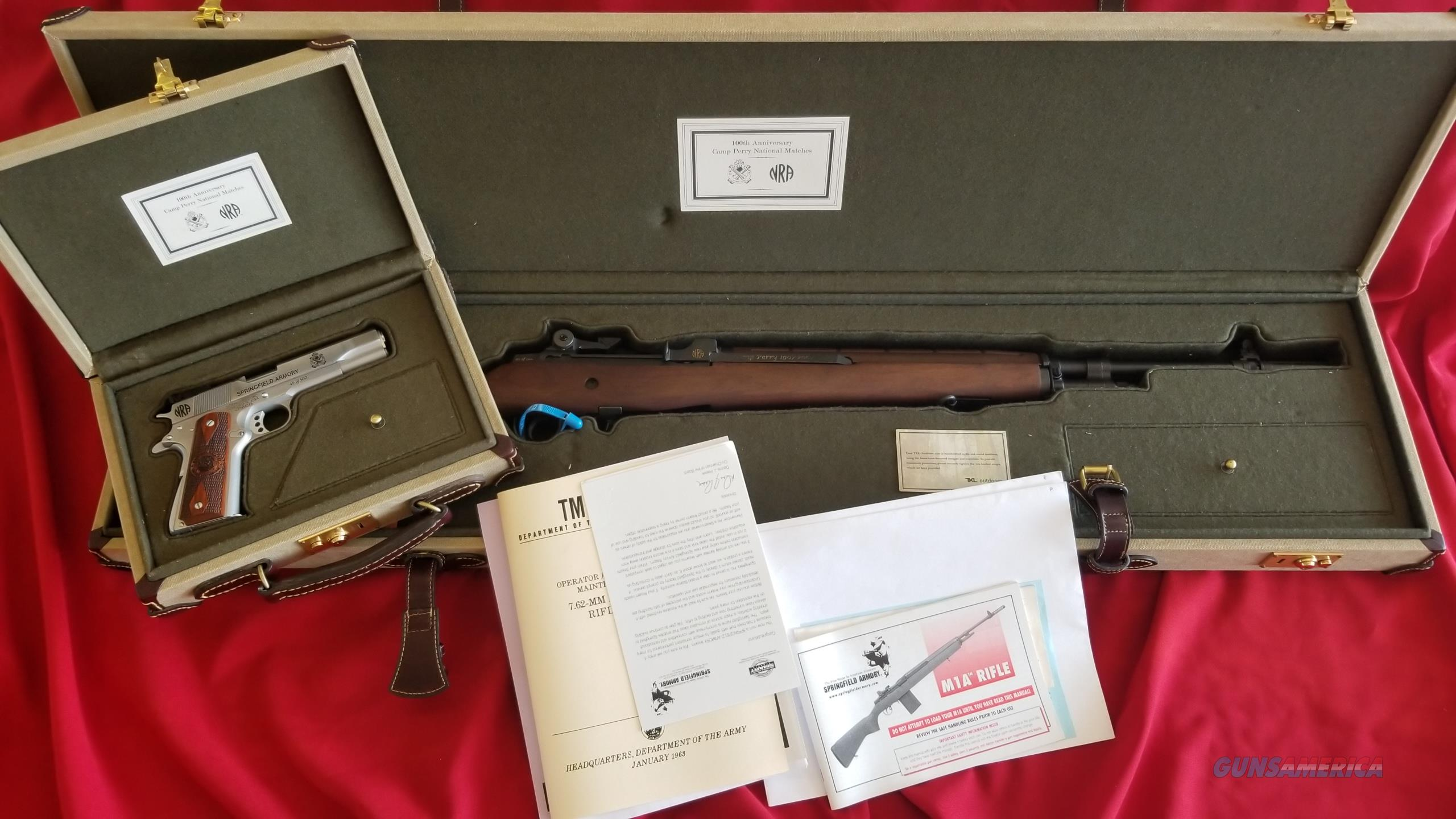 Springfield Armory M1A and M1911A1 Camp Perry 100th Anniversary Set (49 of 500)  Guns > Rifles > Springfield Armory Rifles > M1A/M14