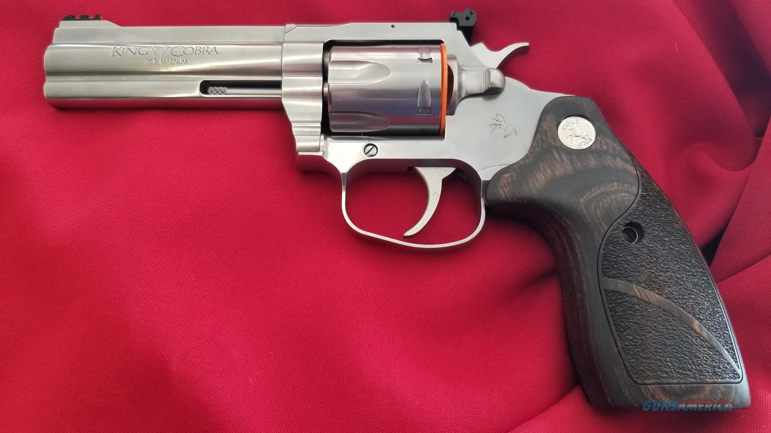 Colt King Cobra 4.25 Inch Barrel in .357 Magnum w/ Wooden Grips  Guns > Pistols > Colt Double Action Revolvers- Modern