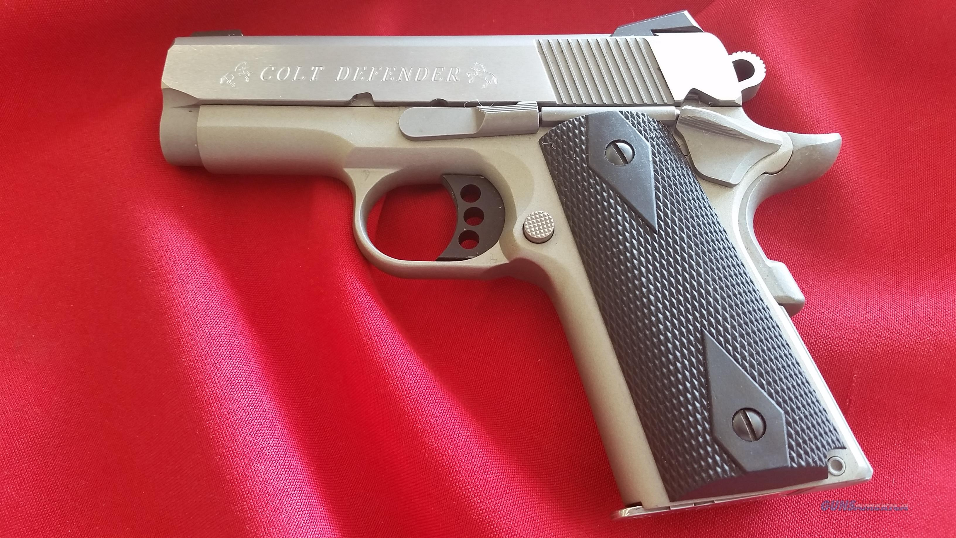 Pre Owned Colt Defender 9mm w/ (2) 8 Round Mags  Guns > Pistols > Colt Automatic Pistols (1911 & Var)