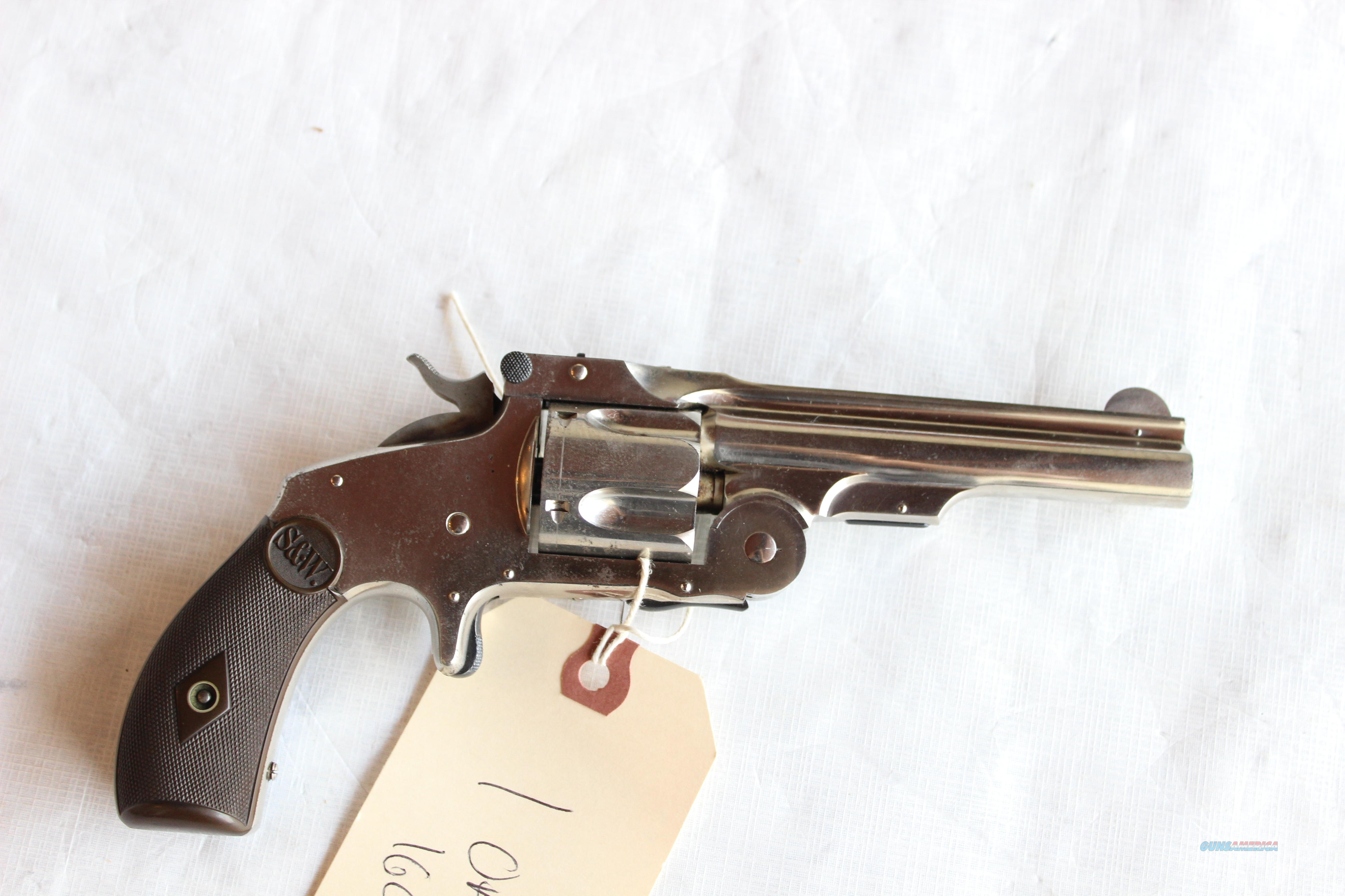 "Smith and Wesson ""Baby Russian"" Tip Up .38 Special Nickel Fair-Good  Guns > Pistols > Smith & Wesson Revolvers > Pre-1945"
