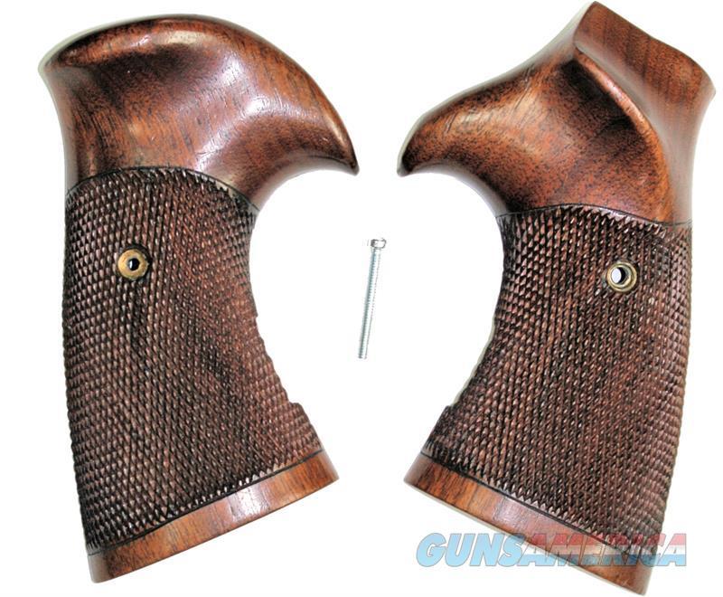 Original Vintage Smith & Wesson K Frame Walnut Sanderson Type Grips, Square Butt  Non-Guns > Gun Parts > Grips > Smith & Wesson