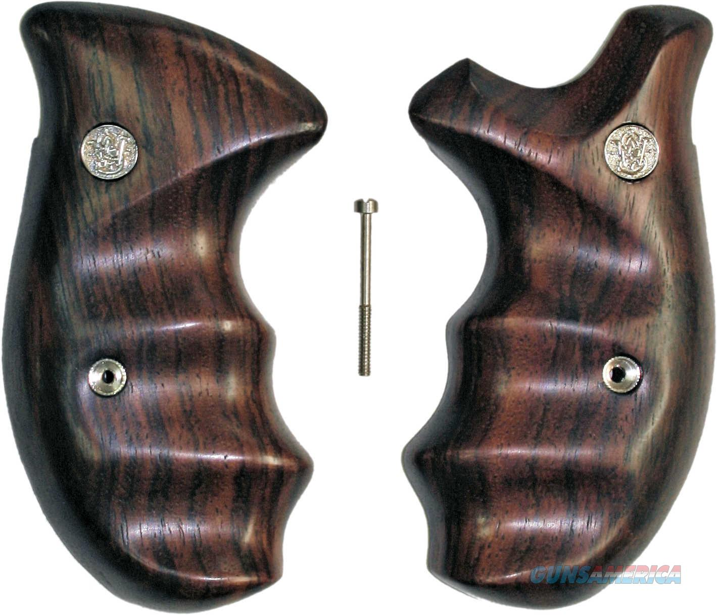Smith & Wesson K & L Frame Smooth Rosewood Combat Grips, Round Butt  Non-Guns > Gun Parts > Grips > Smith & Wesson