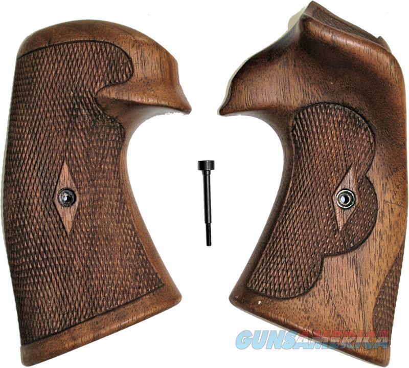 Colt Python I/E Frame Vintage Walnut Roper Grips  Non-Guns > Gun Parts > Grips > Smith & Wesson