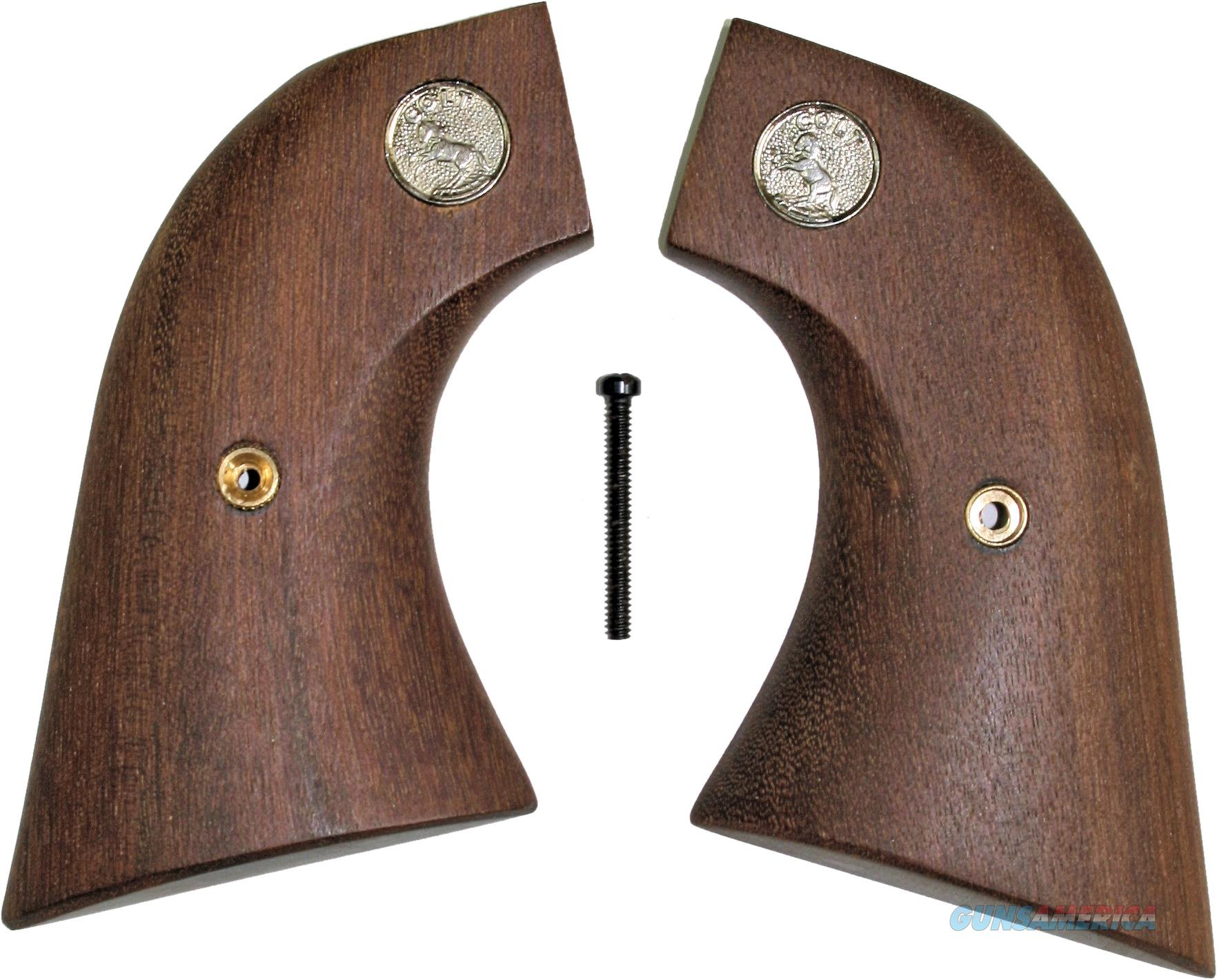 Colt SAA Walnut Grips, Oversize, 2 Piece, With Medallions  Non-Guns > Gun Parts > Grips > Cowboy
