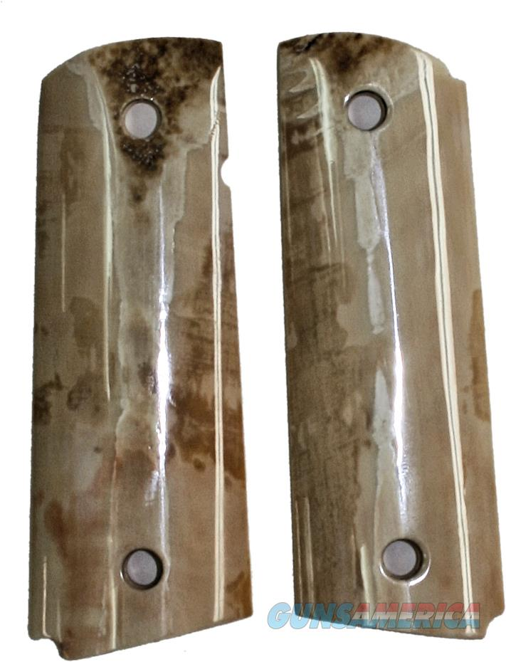 Colt 1911 Real Fossilized Walrus Ivory Grips  Non-Guns > Gun Parts > Grips > 1911