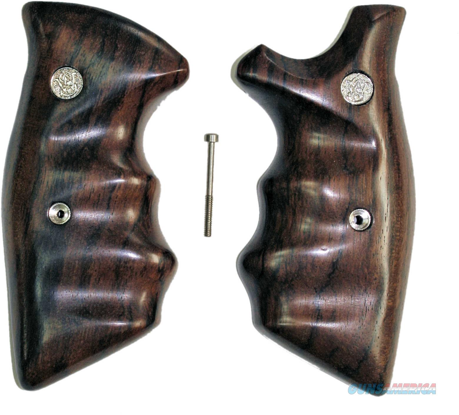 Smith & Wesson K & L Frame Smooth Rosewood Combat Grips, Square Butt  Non-Guns > Gun Parts > Grips > Smith & Wesson
