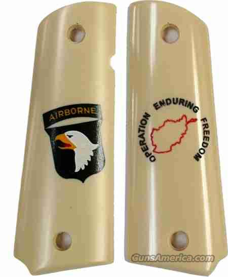 101st Airborne Operation Enduring Freedom Colt 1911 Grips  Non-Guns > Gun Parts > Grips > 1911