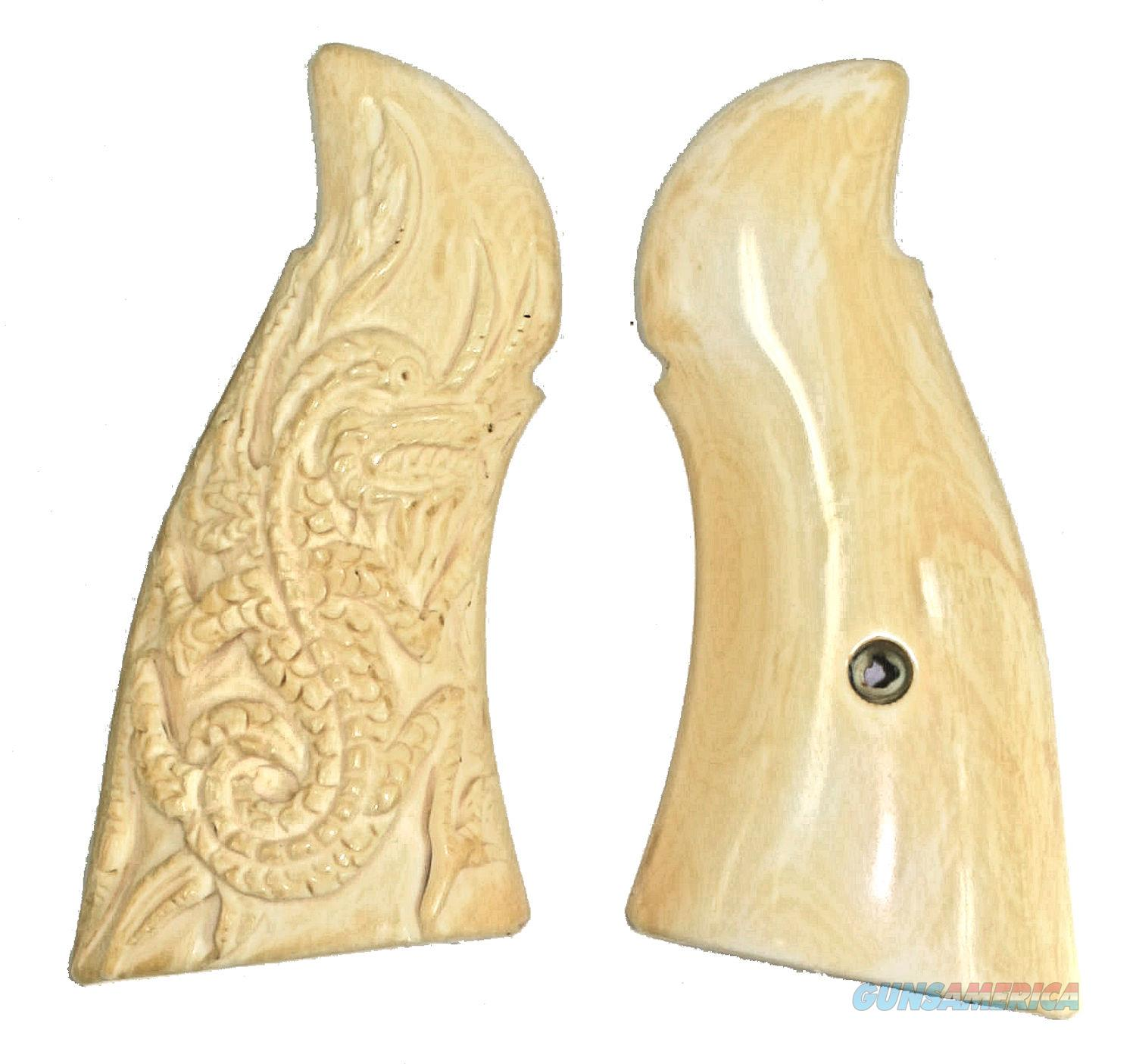 Smith & Wesson N Frame Real Ivory Grips With Carved Dragon  Non-Guns > Gun Parts > Grips > Smith & Wesson