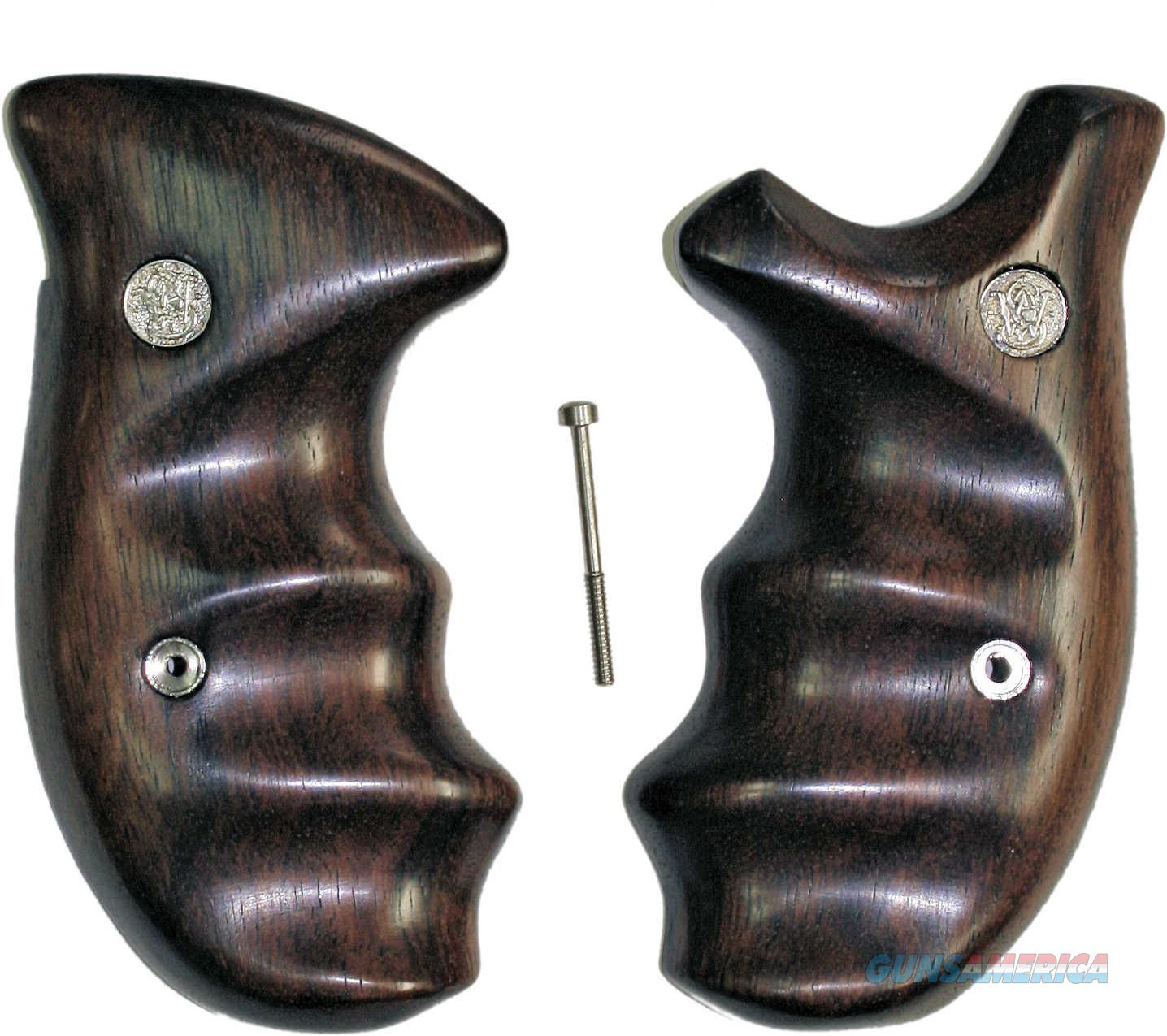 Smith & Wesson N Frame Smooth Rosewood Combat Grips, Round Butt  Non-Guns > Gun Parts > Grips > Smith & Wesson