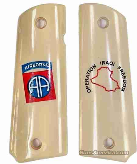 82nd Airborne Colt 1911 Iraq Military Grips  Non-Guns > Gun Parts > Grips > 1911