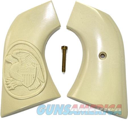 Ruger New Vaquero 2005 Real Ivory Grips, Eagle & Shield in Oval  Non-Guns > Gun Parts > Grips > Cowboy