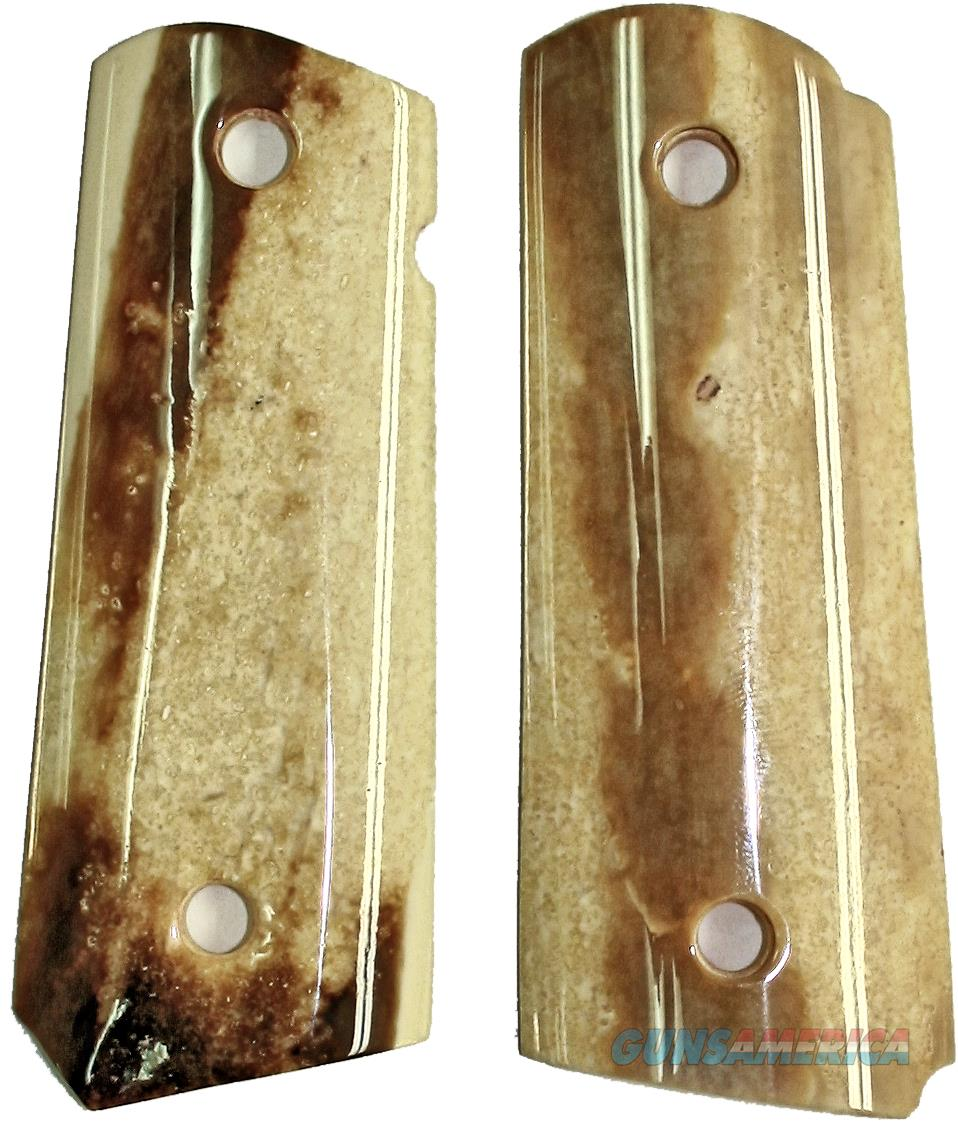 Colt 1911 Officers Model Real Fossilized Alaskan Walrus Ivory Grips   Non-Guns > Gun Parts > Grips > 1911
