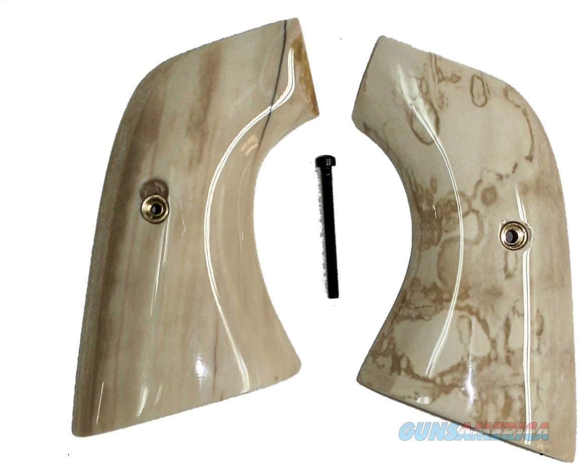 Ruger Vaquero XR3-Red Fossilized Walrus Ivory Grips  Non-Guns > Gun Parts > Grips > Cowboy