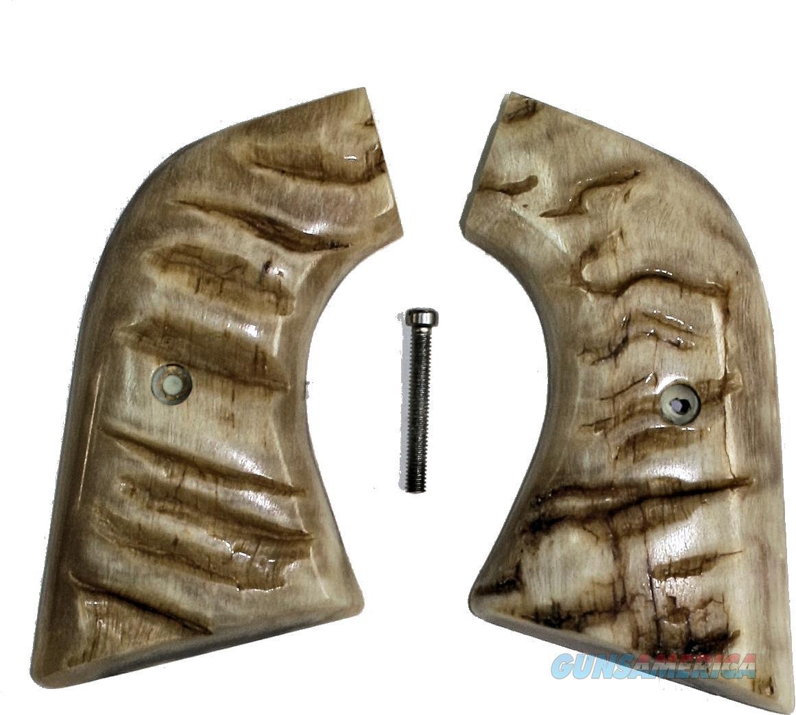 Ruger New Vaquero XR3 2005 Real Ram Horn Grips  Non-Guns > Gun Parts > Grips > Cowboy