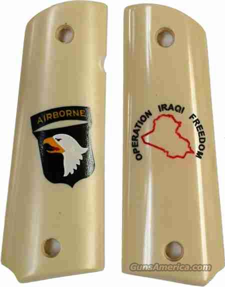 101st Airborne Operation Iraqi Freedom Colt 1911 Grips  Non-Guns > Gun Parts > Grips > 1911