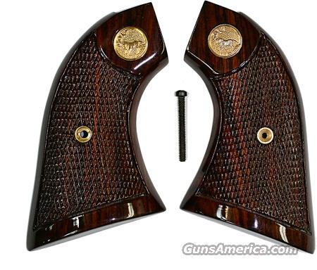 Colt Scout & Frontier Rosewood Checkered with Gold Medallions  Non-Guns > Gun Parts > Grips > Cowboy