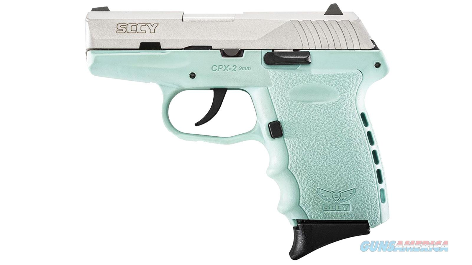 SCCY 9MM Pistol Sky Blue and Stainless Finish  Guns > Pistols > SCCY Pistols > CPX2