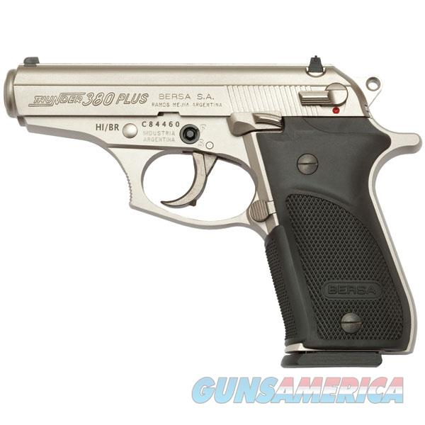 BersaThunder 380 + Pistol in Nickel Finish  Guns > Pistols > Bersa Pistols