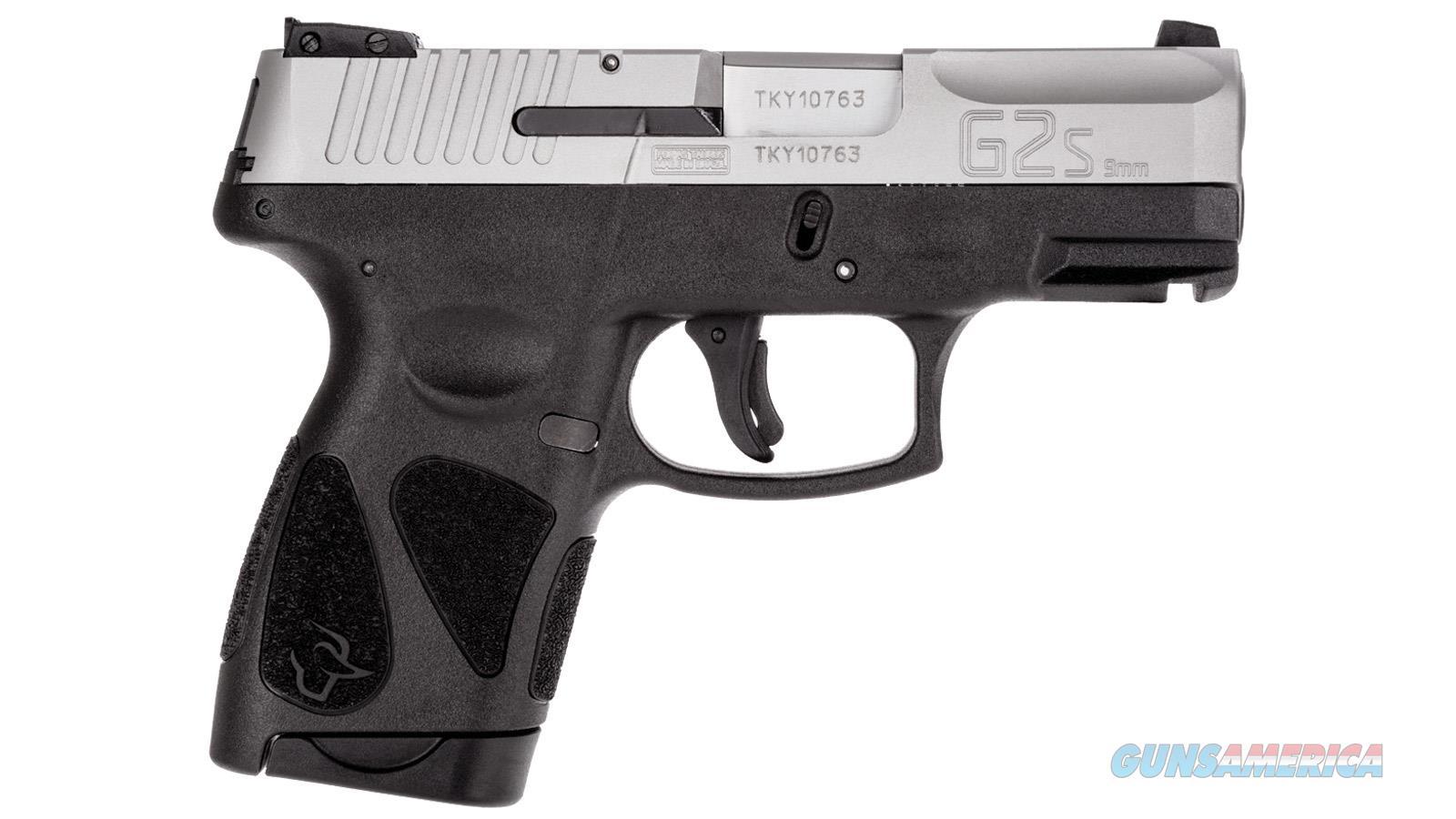 Taurus G2S 9MM Stainless Slide Pistol  Guns > Pistols > Taurus Pistols > Semi Auto Pistols > Polymer Frame