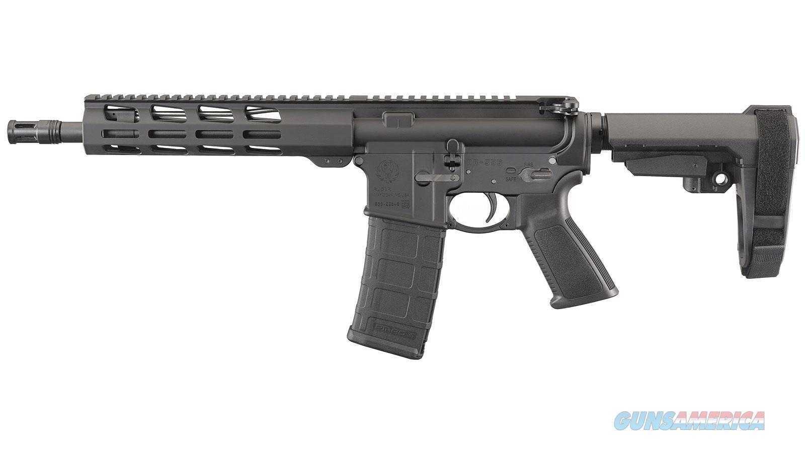 Ruger AR-556 Pistol w/Brace  Guns > Pistols > Ruger Semi-Auto Pistols > Charger Series