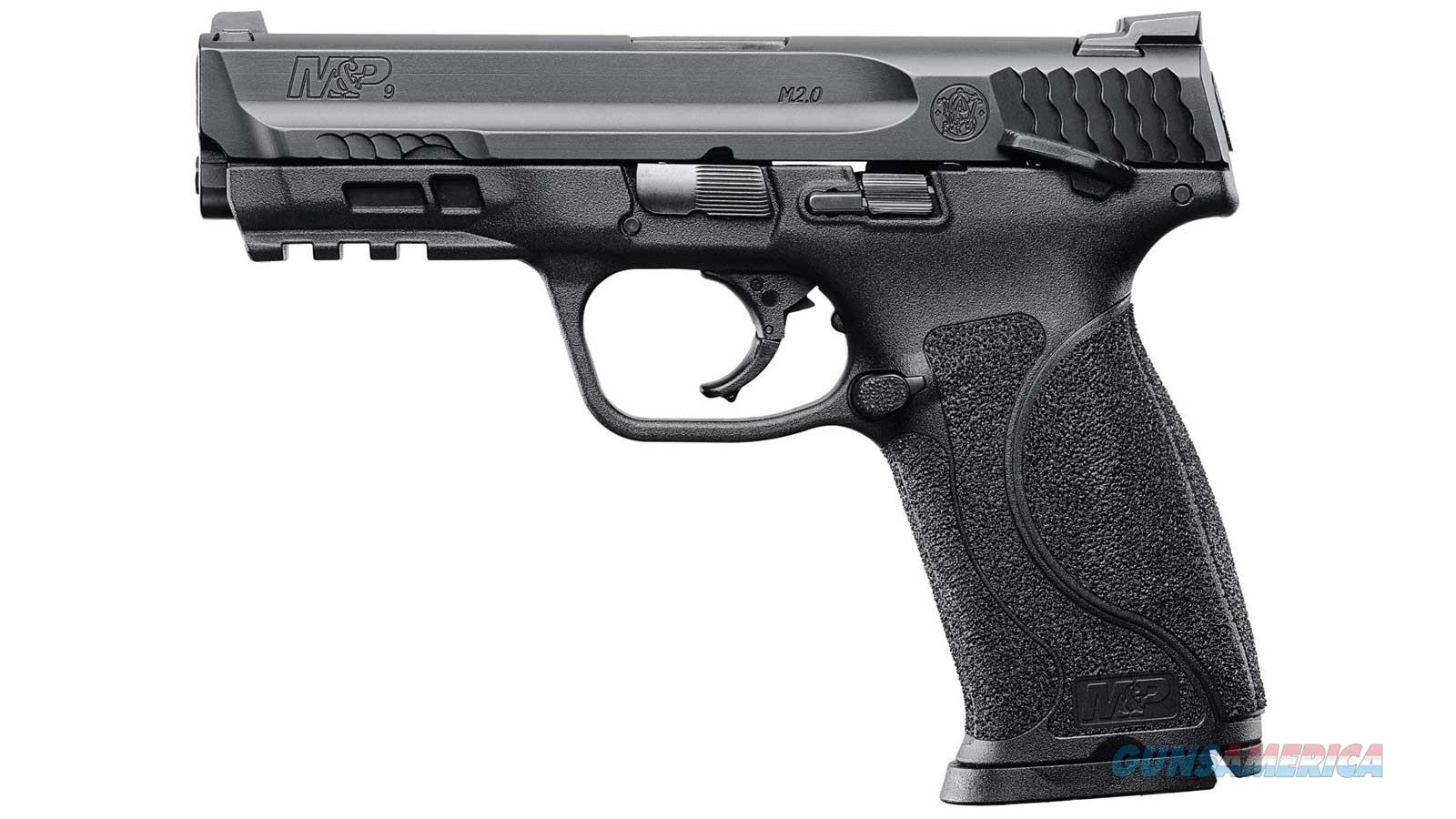 SMITH & WESSON M&P M2.0 - 9MM - W/THUMB SAFETY - BLACK  Guns > Pistols > Smith & Wesson Pistols - Autos > Polymer Frame