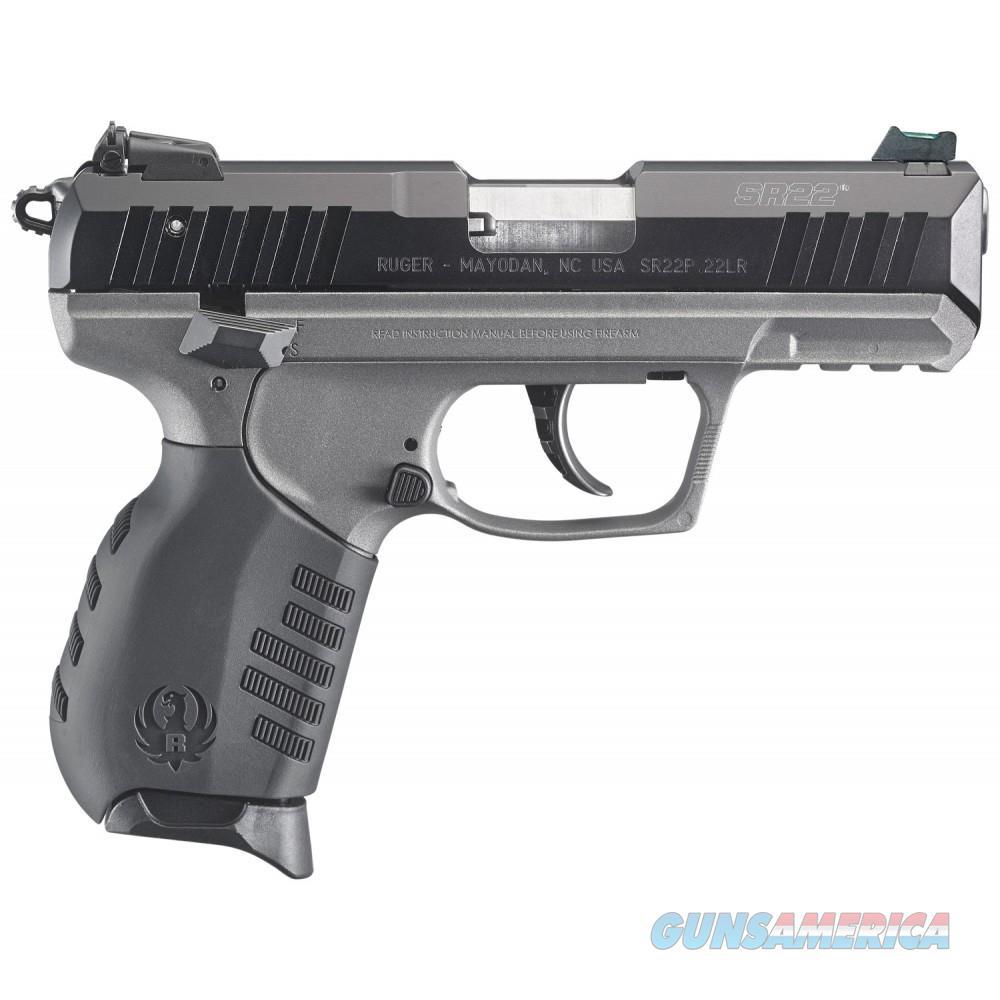 Ruger SR22 Tungsten Cerekote Pistol  Guns > Pistols > Ruger Semi-Auto Pistols > SR Family > SR22