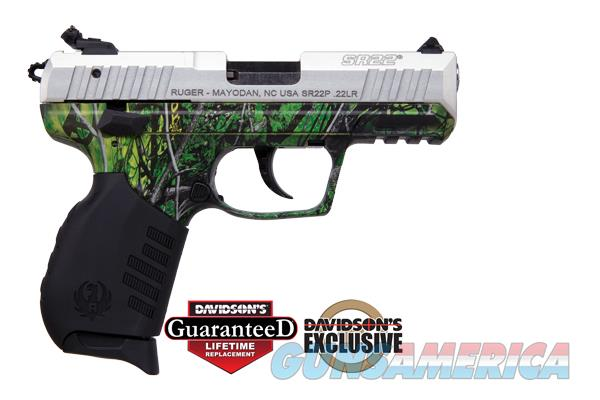 Ruger Sr22 Moon Shine Reduced Toxic Camo 22lr P For Sale
