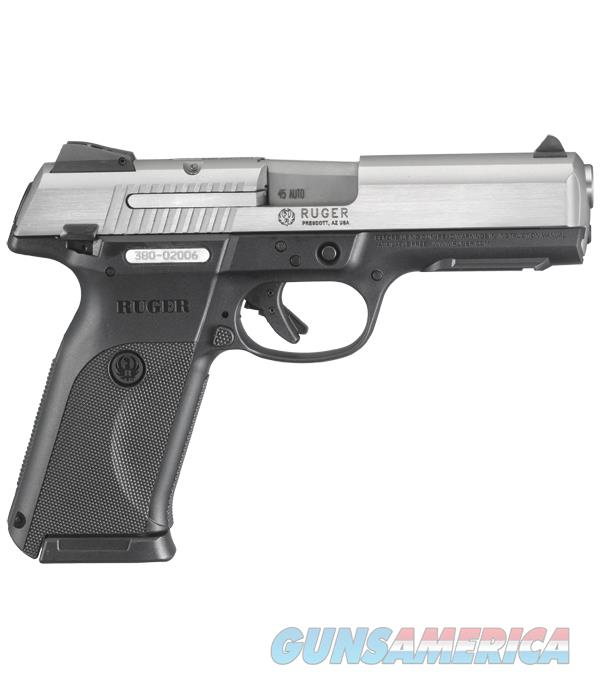 Ruger SR45 Pistol Holds 11 Rounds of 45ACP  Guns > Pistols > Ruger Semi-Auto Pistols > SR Family