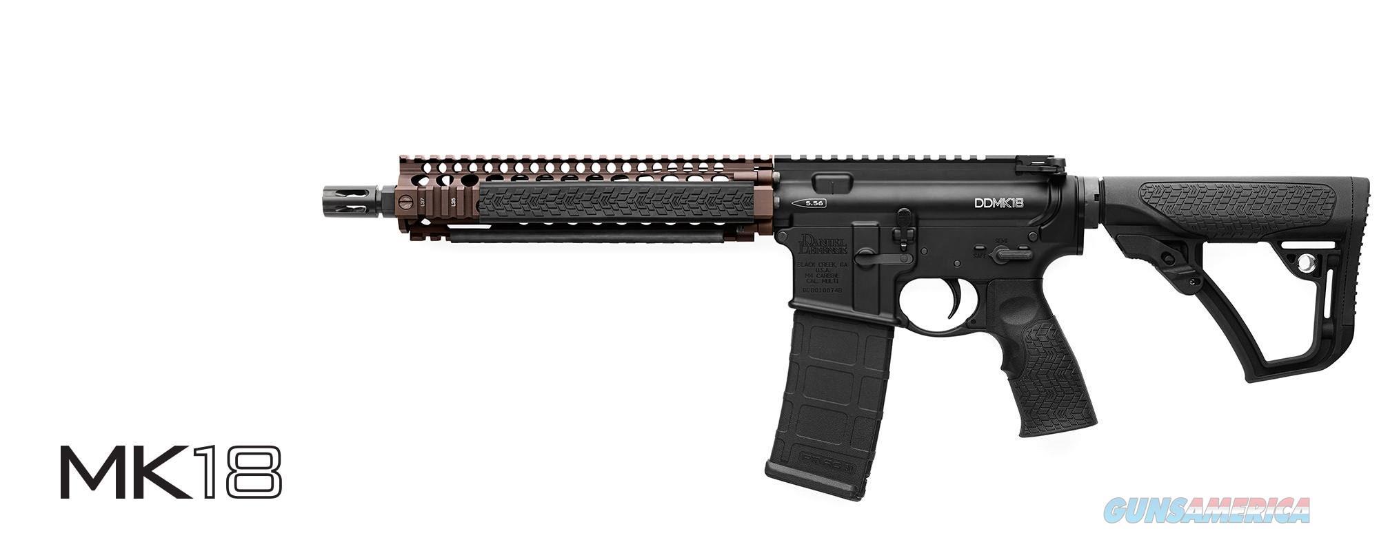 IN STOCK - DANIEL DEFENSE BLK/FDE MK18 SBR - USE WHAT THEY USE (M4 AR15) 02-088-17024 FDE Rail/Black Gun  Guns > Rifles > Daniel Defense > Complete Rifles