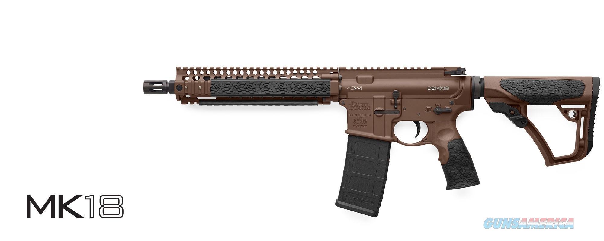 DANIEL DEFENSE MK18 SBR - MILSPEC+ BROWN IN STOCK NOW (M4 AR15) PN: 02-088-15028-011  Guns > Rifles > Daniel Defense > Complete Rifles