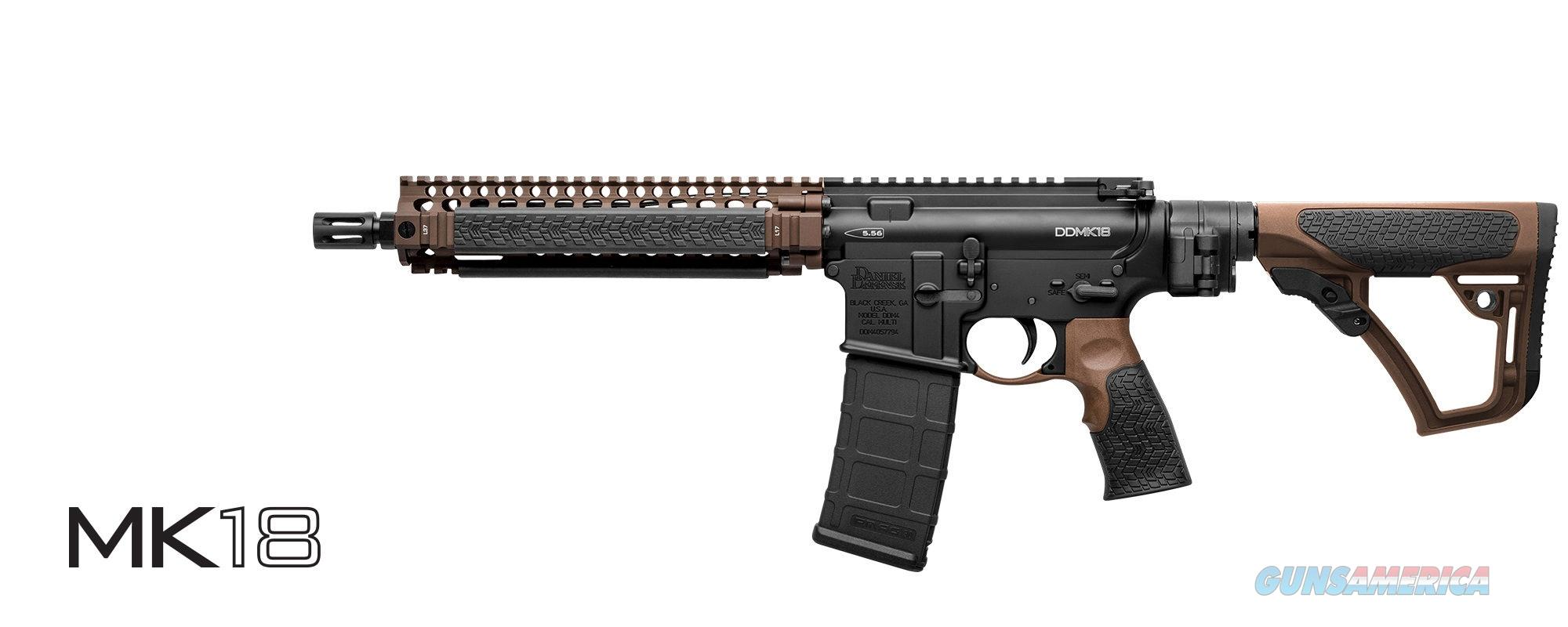 NEW and HARD TO FIND! DANIEL DEFENSE MK18 - FACTORY SBR LAW TACTICAL Brown/Black (M4 AR15) 02-088-09444-047  Guns > Rifles > Daniel Defense > Complete Rifles