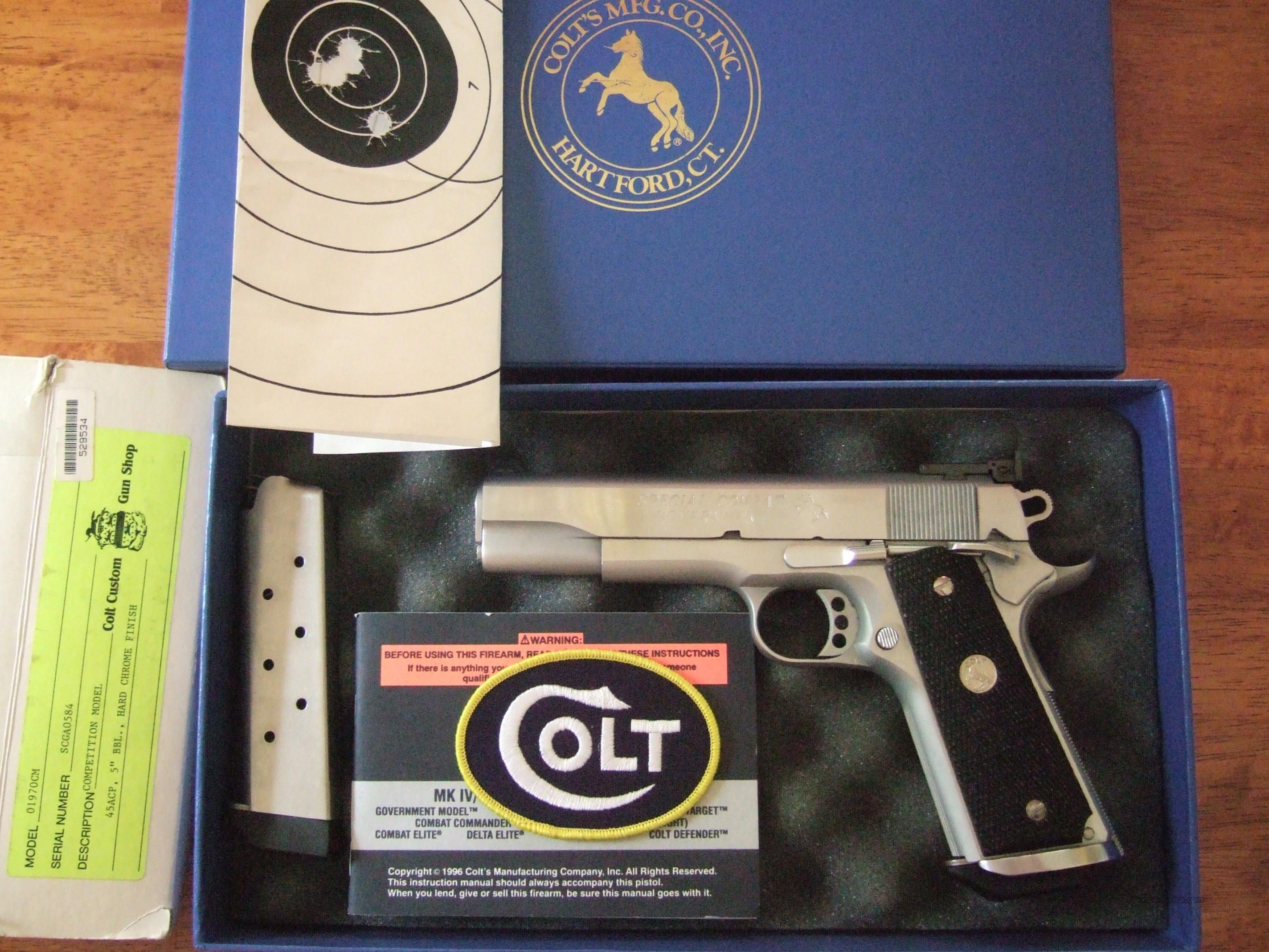 Colt Special Combat Government hard chrome  Guns > Pistols > Colt Automatic Pistols (1911 & Var)