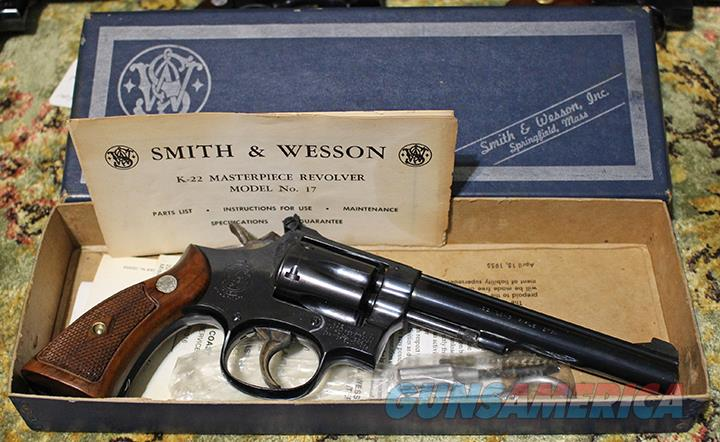 Smith & Wesson Model 17 22 revolver  Guns > Pistols > Smith & Wesson Revolvers > Med. Frame ( K/L )
