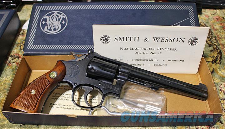 Smith & Wesson Model 17 22 revolver  Guns > Pistols > Smith & Wesson Revolvers > Med. Frame ( K/L )