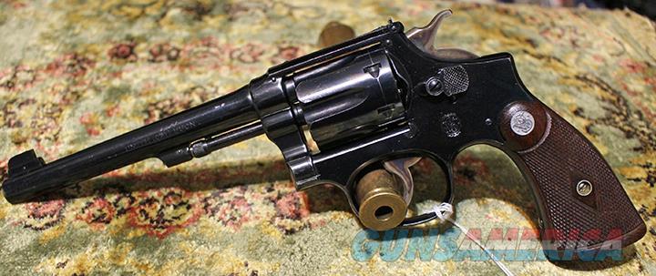 Smith & Wesson K-22 Outdoorsman 22 revolver  Guns > Pistols > Smith & Wesson Revolvers > Med. Frame ( K/L )