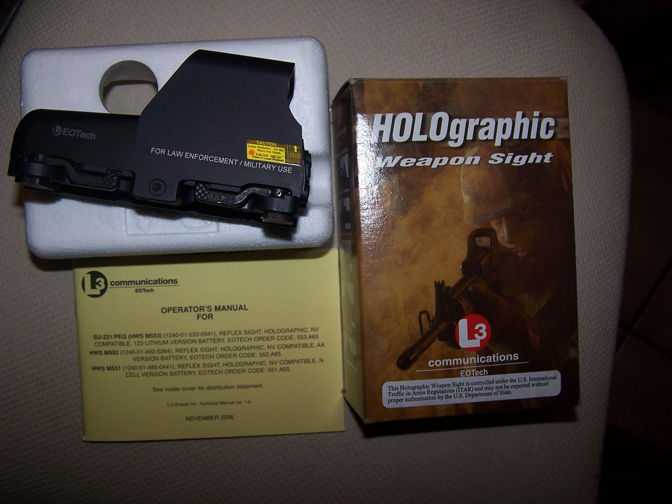 EOtech 553 Holographic weapon sight  Non-Guns > Scopes/Mounts/Rings & Optics > Non-Scope Optics > Other