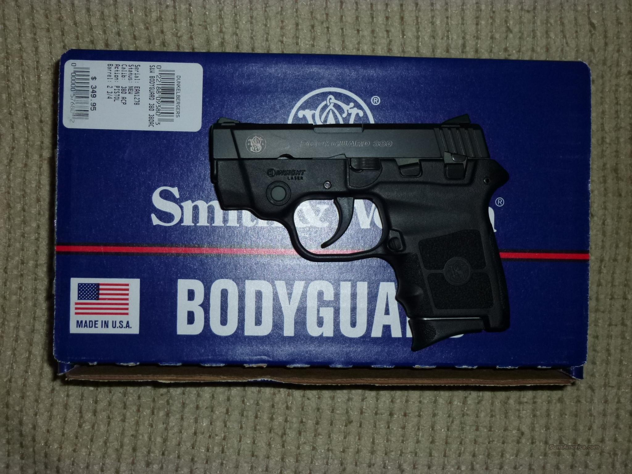 Smith & Wesson .380 Bodyguard with laser  Guns > Pistols > Smith & Wesson Pistols - Autos > Polymer Frame
