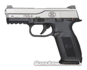 FNH FNS-9 9MM Pistol with three 17 round mags & night sights  Guns > Pistols > FNH - Fabrique Nationale (FN) Pistols > FNP