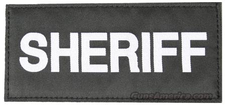 BLACKHAWK! Sheriff Identification Panel White Lettering on Black  Non-Guns > Logo & Clothing Merchandise