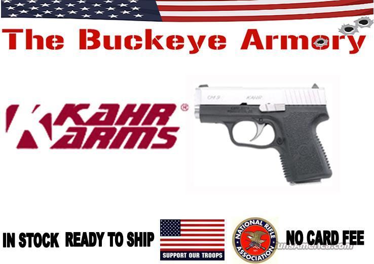 KAHR ARMS CM9 9MM FS MATTE S/S BLACK POLYMER  Guns > Pistols > Kahr Pistols