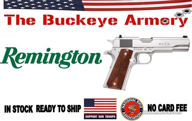 "REMINGTON 1911R1 .45ACP 5"" FS-3 DOT 7-SHOT STAINLESS WALNUT  Guns > Pistols > Remington Pistols - Modern"