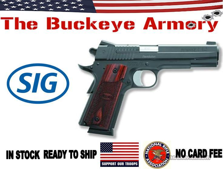SIG 1911 45ACP BLK NS 2 8RD ROSEWOOD GRIPS   Guns > Pistols > Sig - Sauer/Sigarms Pistols > 1911