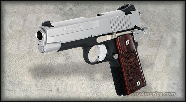 SIG 1911 COMPACT 45ACP C3 ALLOY DUO TONE 2 7RD   Guns > Pistols > Sig - Sauer/Sigarms Pistols > 1911