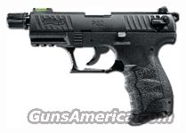 "WALTHER P22 .22LR 3.4"" AS 10-SHOT TACTICAL BLACK POLY  Guns > Pistols > Walther Pistols > Post WWII > P22"