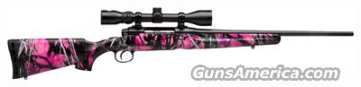 SAVAGE AXIS YOUTH .243 WIN. MUDDY GIRL CAMO SYN W/3-9X40  Guns > Rifles > Savage Rifles > Standard Bolt Action > Sporting