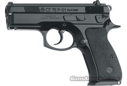 CZ 75 P-01 9MM BLK ALLOY DECOCKER LIGHT RAIL 14RD   Guns > Pistols > CZ Pistols